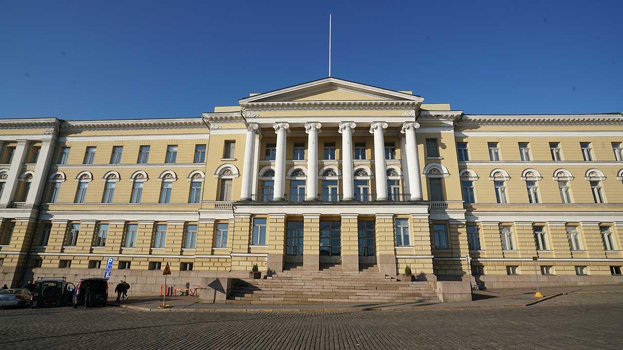 Helsingfors universitets huvudbyggnad.