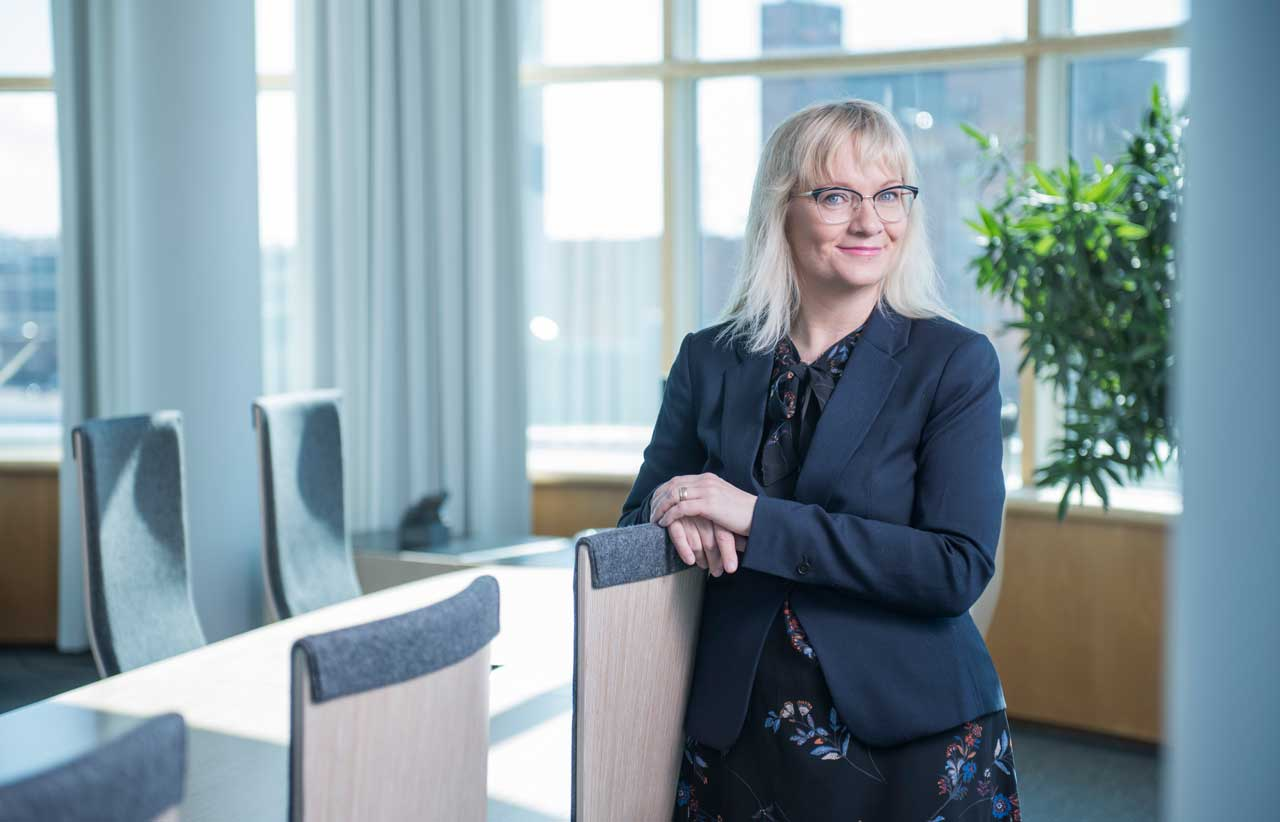 JHL:s ordförande Päivi Niemi-Laine.
