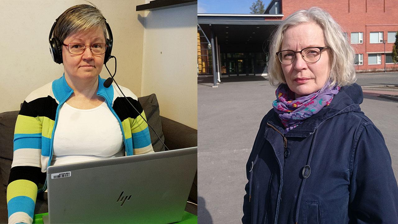 JHL:läiset koulunkäynninohjaajat ovat erilaisissa tilanteissa. Kirsi Formulahti Tampereelta kertoo, että kaikki ohjaajat ovat töissä. Mikkeliläisen Tuula Kähärän palkanmaksu on keskeytetty.