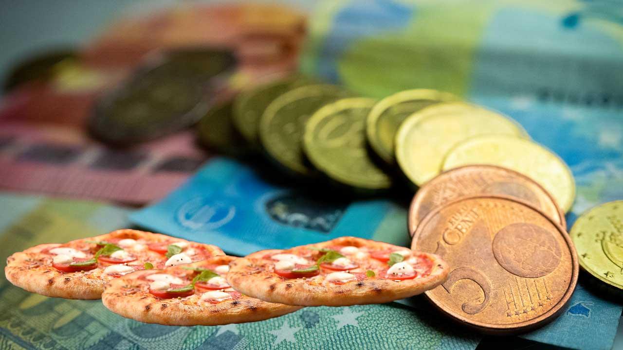 rahaa ja pizzoja