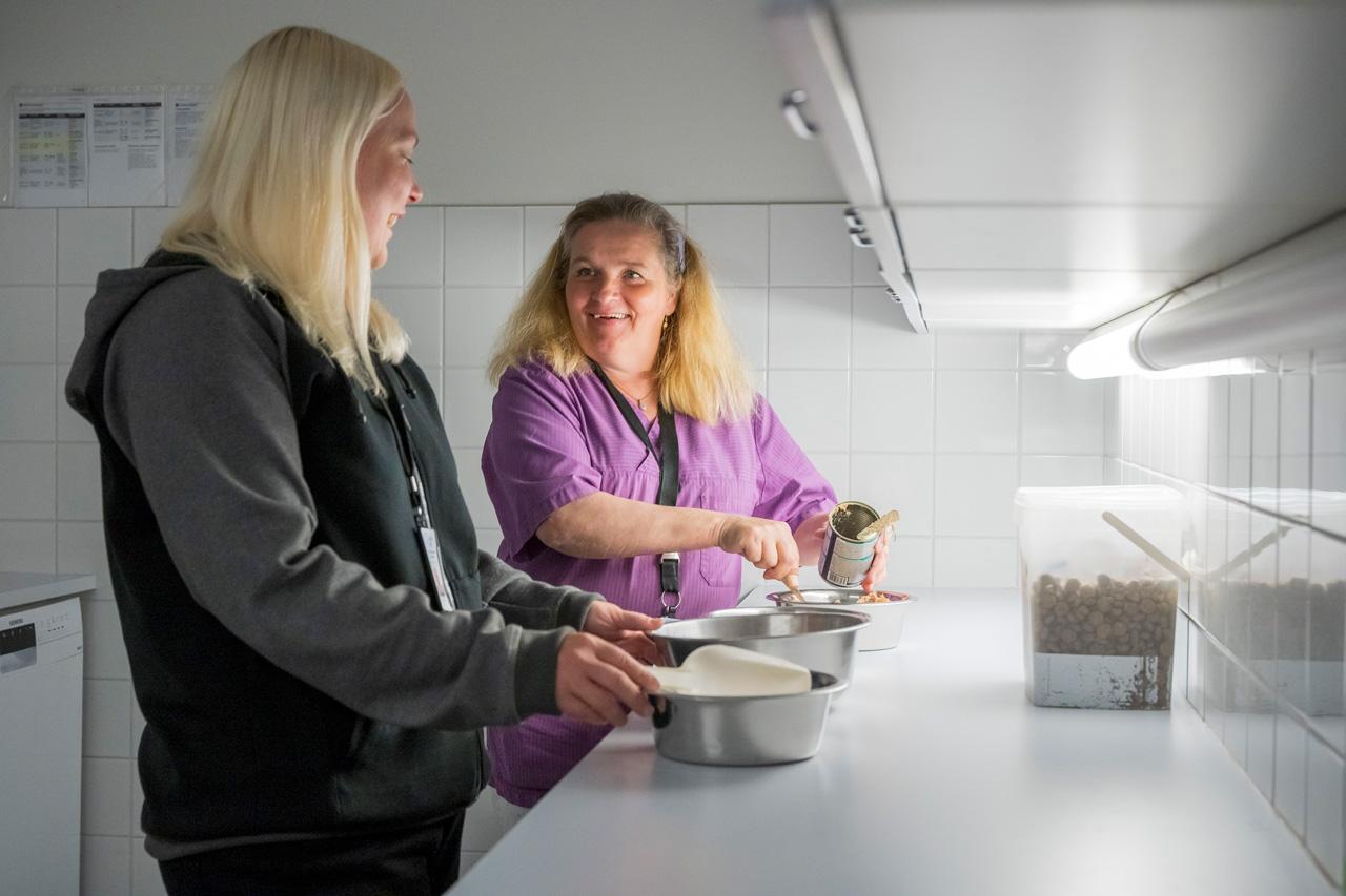 Laura Jalava ja Heidi Leyser-Kopra