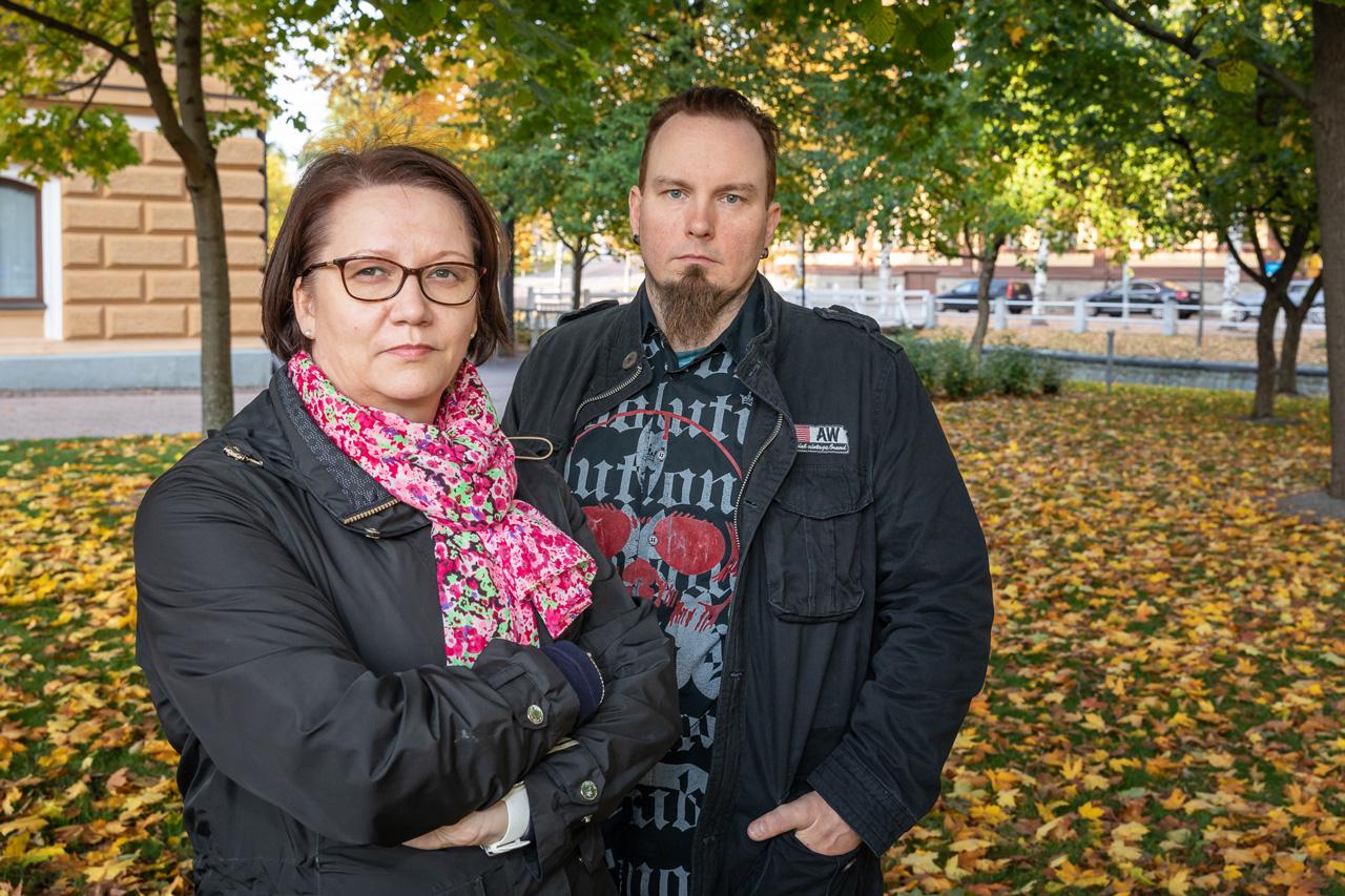 pääluottamusmiehet Kirsi ärkelä ja Markus Lepinoja