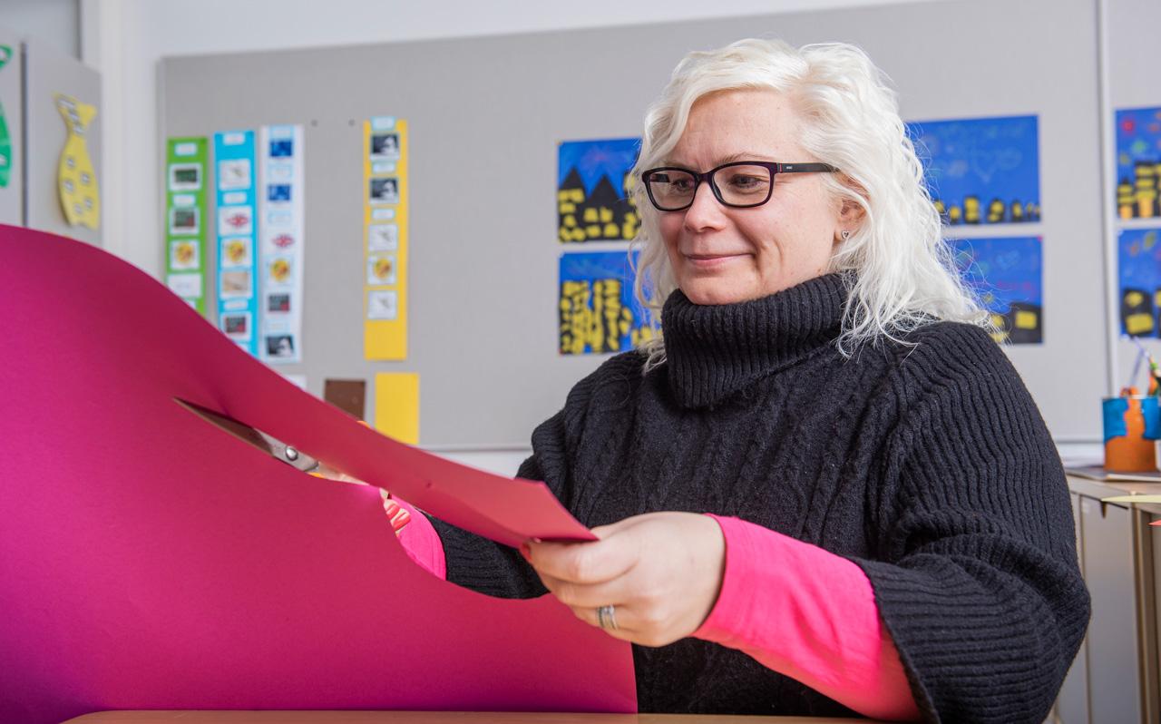 koulunkäynninohjaaja Marika Laaksonen