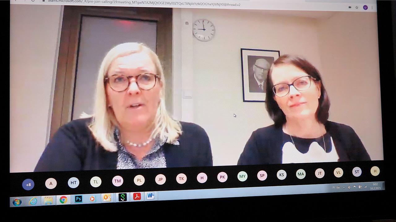 Minna Andell ja Mirja Ylenius-Lehtonen